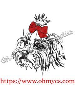 Maltese Sketch Embroidery Design