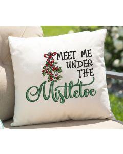 Meet Me Under the Mistletoe 2020 Embroidery Design