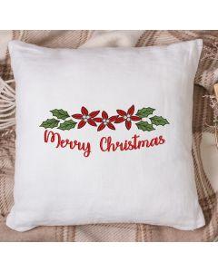 Merry Christmas poinsettias 2020 Embroidery Design