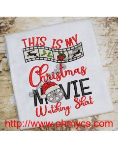 My Movie Watching Shirt Embroidery Design
