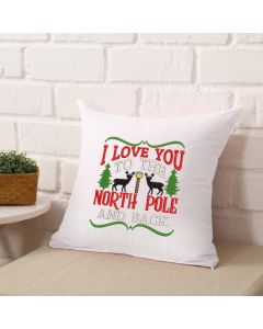 The North Pole and Back Embroidery Design