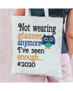 Not Wearing Glasses 2020 Embroidery Design