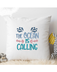 Ocean is Calling Embroidery Design