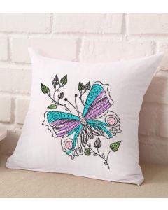 Off Center Butterflies Embroidery Design
