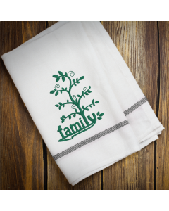 Family Tree with Leaves Embroidery Design