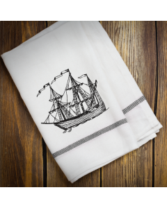 Sketch Ship Embroidery Design