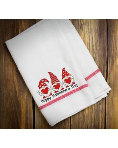 Three Valentine Gnomes Embroidery Design