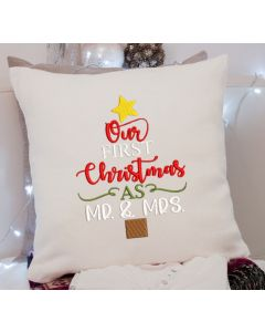 Our Christmas Mr Mrs Embroidery Design
