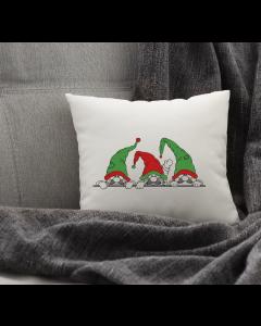 Peeking Gnomes Embroidery Design