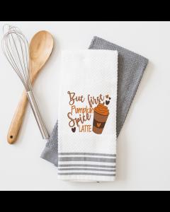 First Pumpkin Spice Latte Embroidery Design