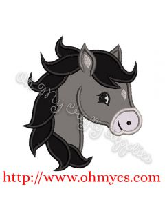 Pony Head Applique Design