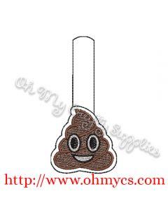 ITH Poop Emoji Key Fob Embroidery Design