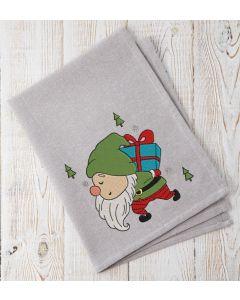 Present Gnome Embroidery Design