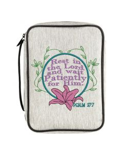 Psalm 37:7 Wait Patiently for him Embroidery  Design