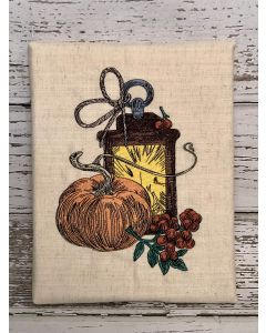Fall Lantern Embroidery Design
