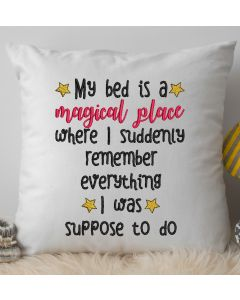 Magical bed where I remember everything Embroidery Design