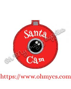 ITH Santa Cam Ornament