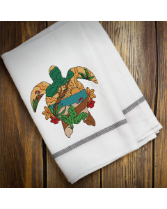 Scenic Turtle 1 Embroidery Design