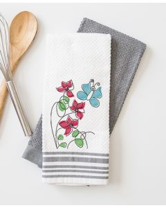 Scribble Flowers Embroidery Design