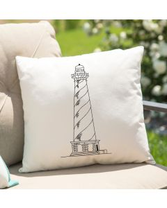 Sketch Drawing Lighthouse Embroidery design