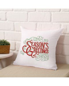 Season's Greetings Embroidery Design