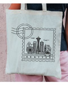Seattle Stamp Embroidery Design