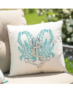 Seaweed Anchor Embroidery Design