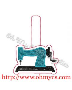 ITH Sewing Machine Key Fob Embroidery Design