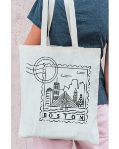 Boston Drawing Embroidery Design