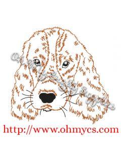 Sketch Cocker Spaniel Embroidery Design