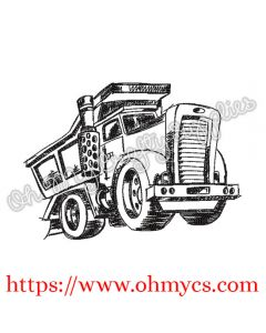 Sketch Mack Truck Embroidery Design