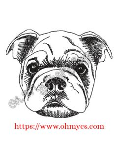 Sketch Shar Pei Drawing Embroidery Design