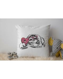 Sketch Sloth Embroidery Design