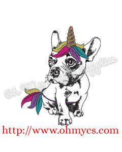 Sketch Unicorn Puppy Embroidery Design