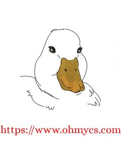 Duck Sketch Embroidery Design