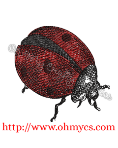 Sketchy Lady Bug Embroidery Design