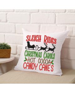 Sleigh Rides Christmas Carols Embroidery Design