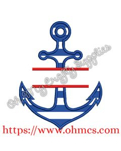 Split Anchor Applique Design