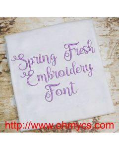 Spring Fresh Embroidery Font (BX Included)