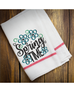 Floral Spring Time Embroidery Design