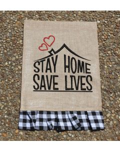 Stay Home Save Lives Embroidery Design