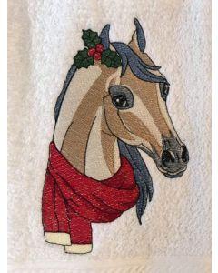 Christmas Pony Embroidery Design