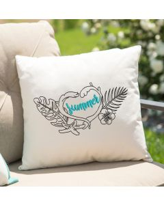 Summer Love Drawing embroidery Design