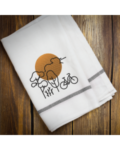 Sunset Bike Embroidery Design