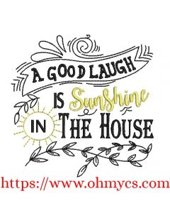 Sunshine In The House Embroidery Design