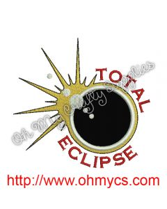 Solar Eclipse Applique Design