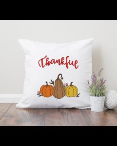 Thankful Pumpkin Trio Embroidery Design