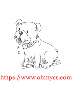 Toon Puppy Sketch Embroidery Design
