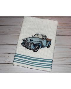 Another Vintage Solid Stitch Truck Embroidery Design