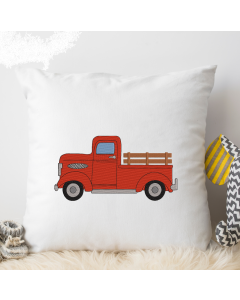 Old Farm Truck Embroidery Design